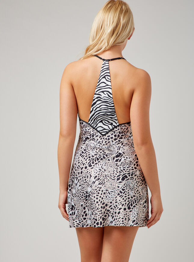 Leopard and giraffe print chemise