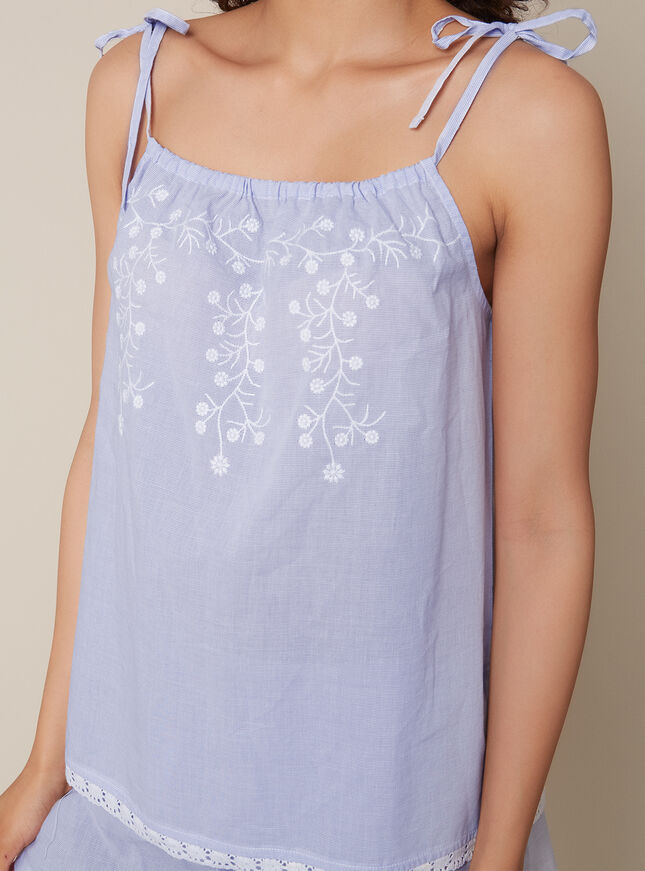 Prairie embroidered cami set