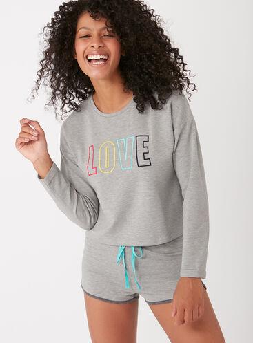"""""""Love"""" slogan pyjama set"""