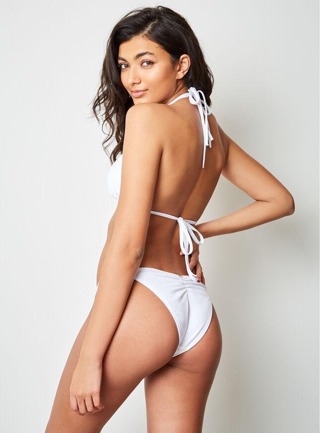 Ring detail triangle bikini top