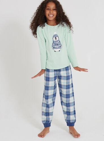 Girls penguin pyjama set