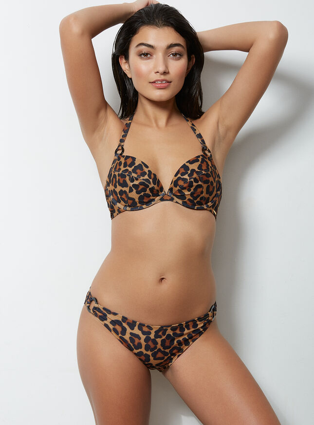 Mozambique leopard bikini top
