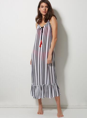 Stripey beach dress