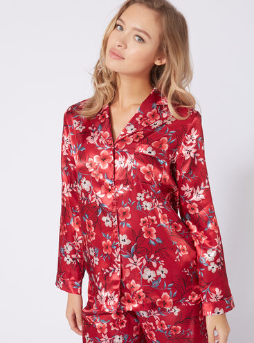 Oriental bloom pyjama top
