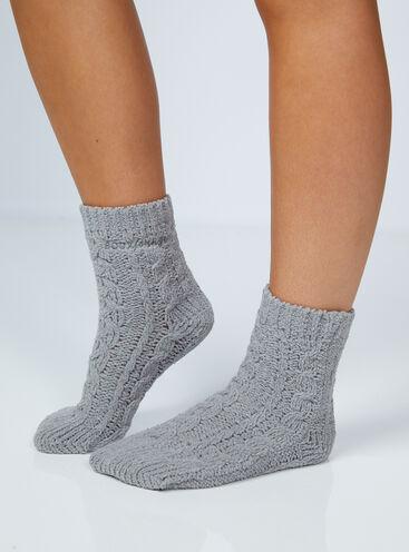 Boux lounge cable knit socks