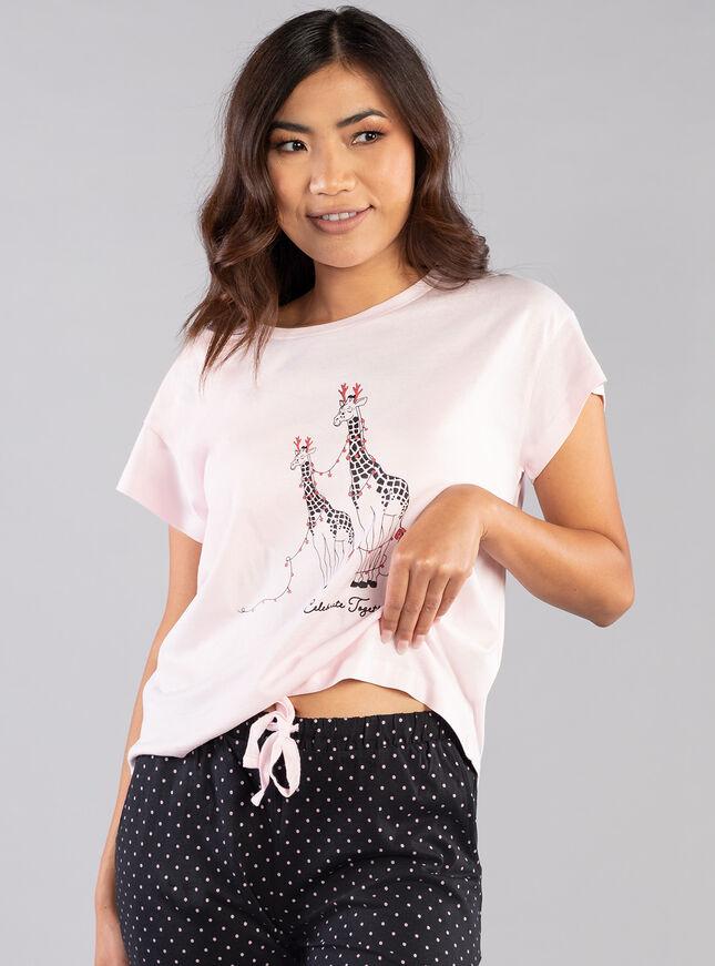 Celebrate together giraffe pyjama set