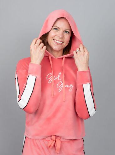 """""""Girl gang"""" velour hoody & jogger"""