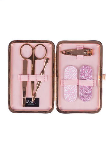 Metallic mini manicure set