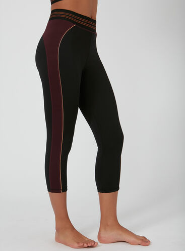 Activewear copper crop leggings