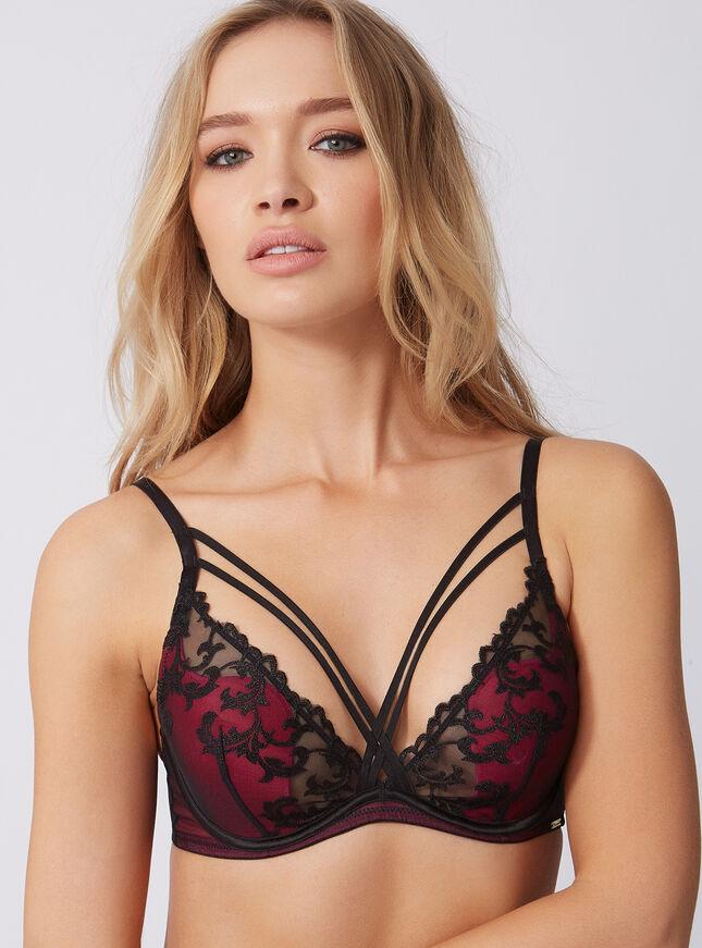 Anoushka strappy plunge bra