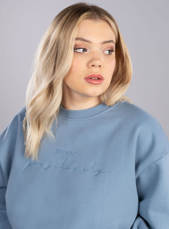 Radiate positivity sweatshirt