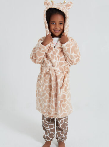 Girls pretty giraffe robe
