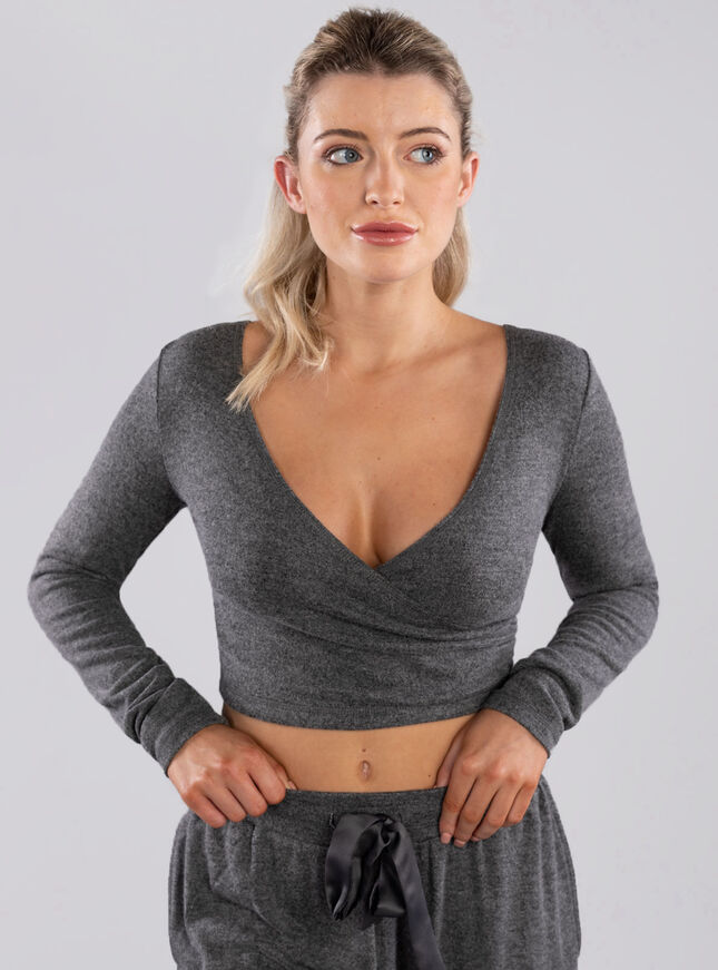 Sia wrap front top & jogger