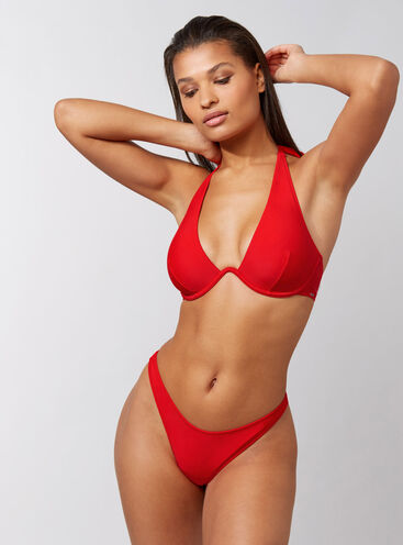 Ibiza red mono wire bikini set