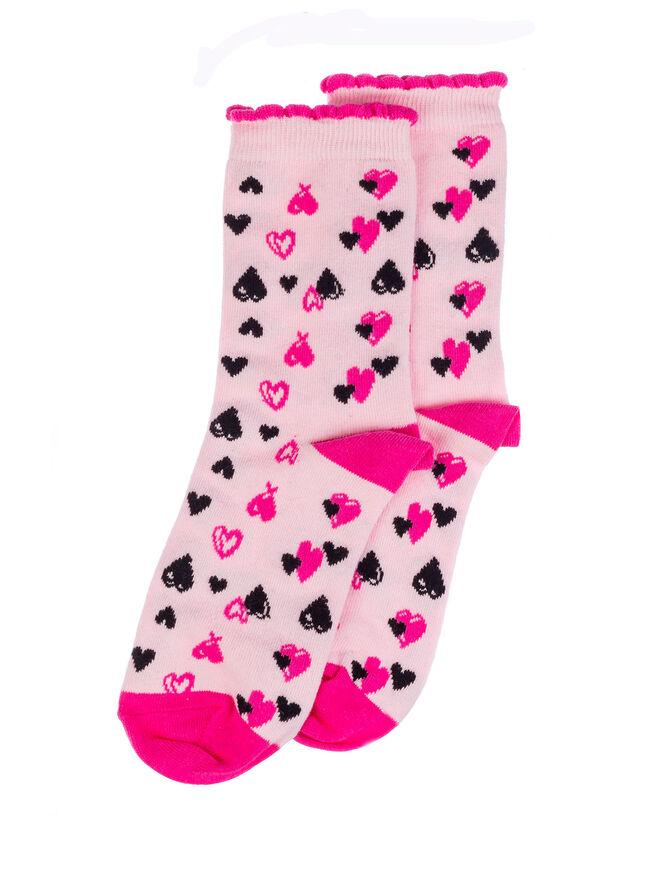 Heart socks in a bag