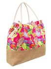 Tropical floral beach bag