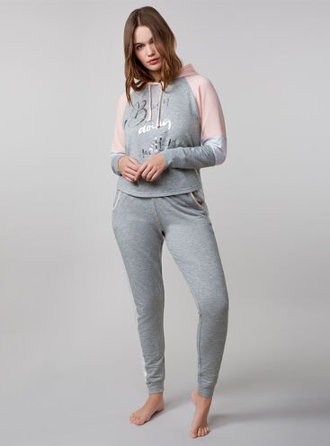 """Busy doing nothing"" hoody and joggers set"