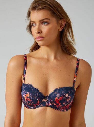 Valerie floral balconette bra