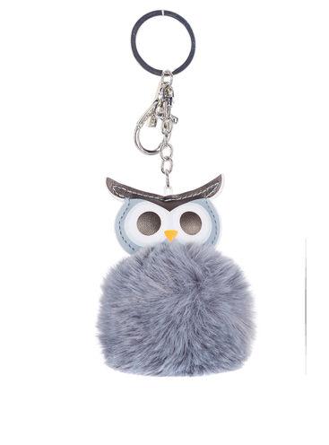 Fluffy owl keyring