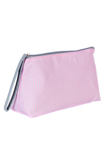 Pinstripe toiletry bag