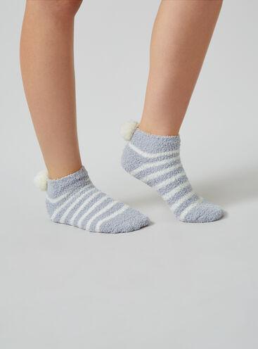 Stripe pom pom socks
