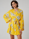 Tropical floral robe