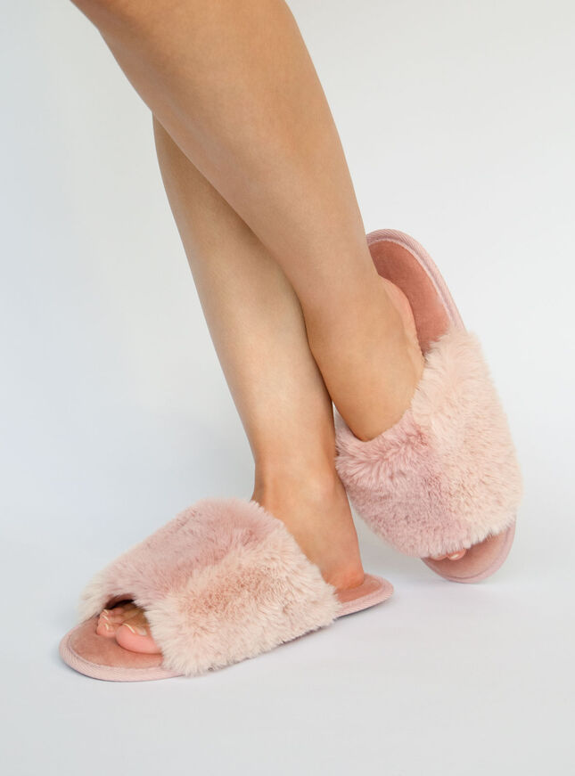 Pink two tone slippers