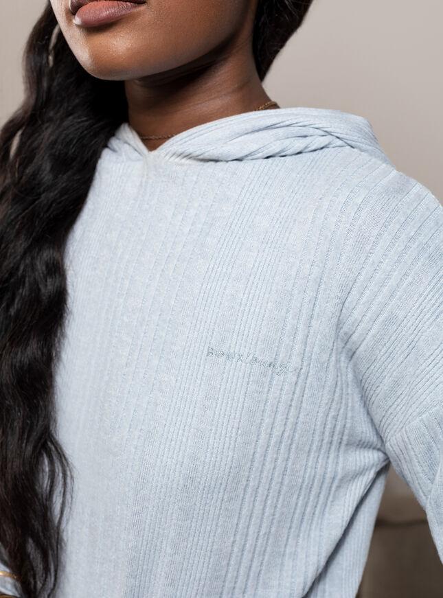 Lyla ribbed lounge hoodie