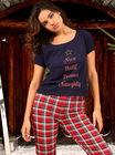 """Nice until proven naughty"" pyjama gift set"