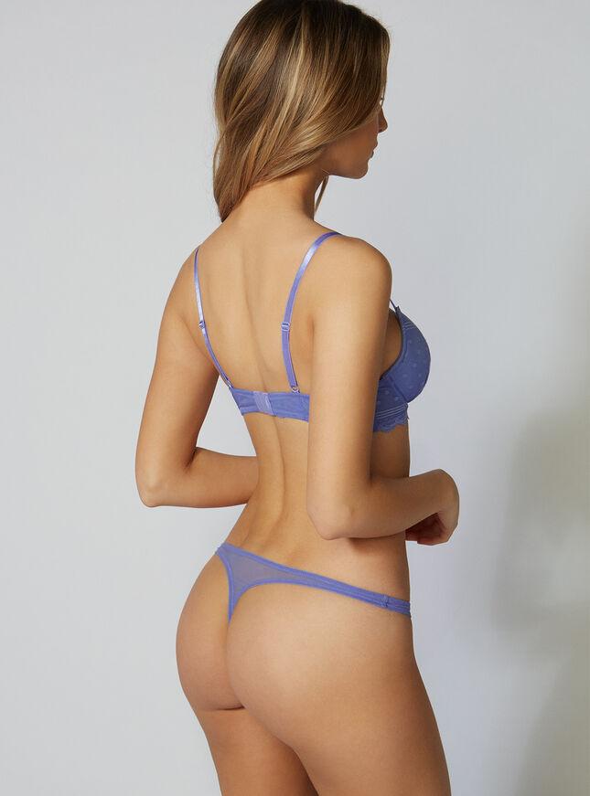 Aleena spot mesh plunge bra