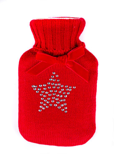 Diamante star hot water bottle
