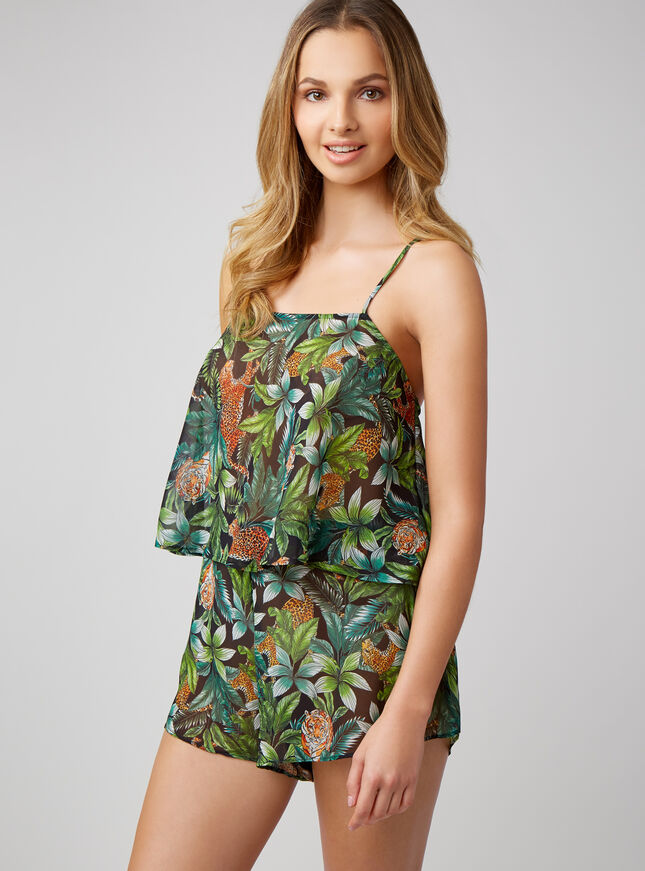 Jungle cheetah swing camisole