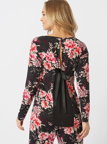 Winter peony bow back top
