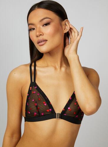 Heart triangle bra