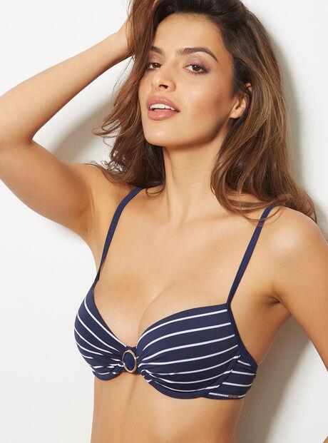 Maldives stripe bikini top