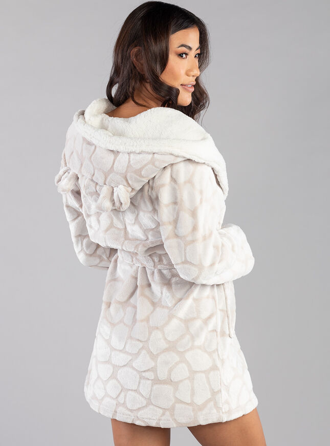 Giraffe  hooded dressing gown