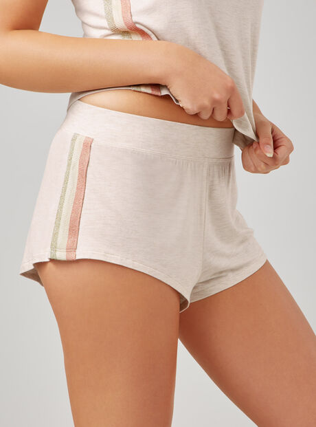 Lurex tape shorts