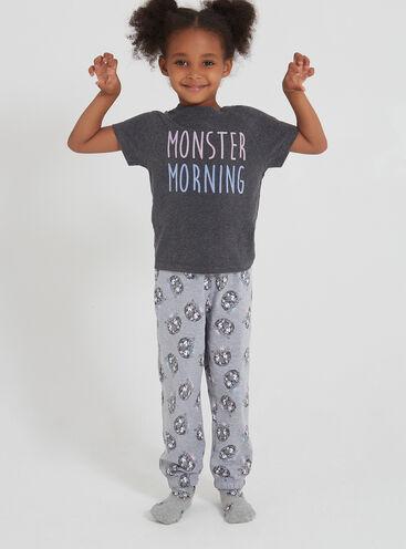 Girls monster pyjama set