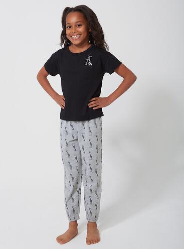 Girls peekaboo giraffe pyjama set