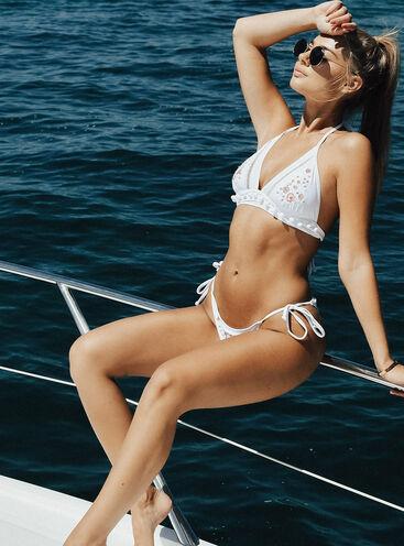 Faro embroidered triangle bikini top