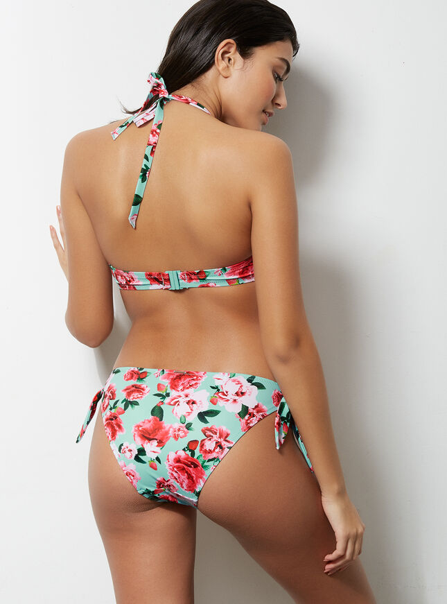 Stawberry floral bardot multiway bikini top