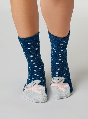 Snowman cosy socks