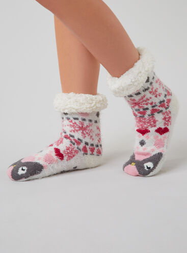 Owl slipper socks
