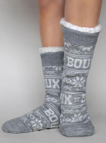 Fairisle Boux slippers socks