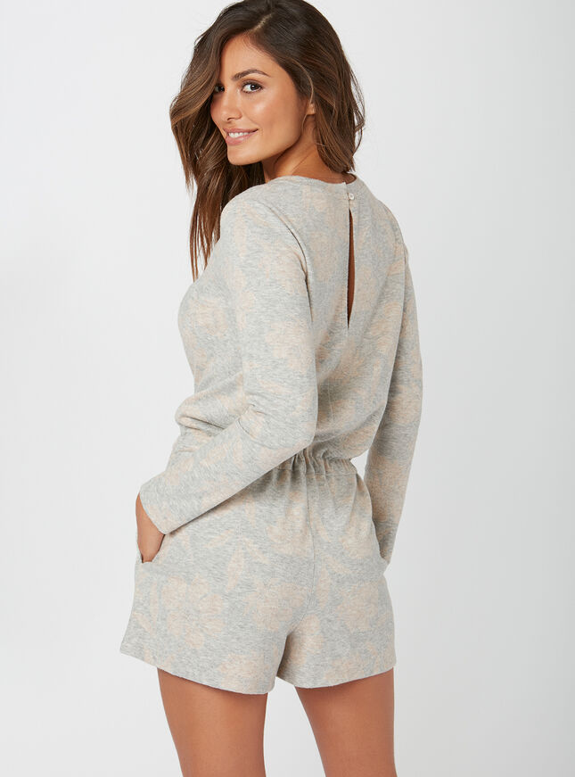 Rose jacquard playsuit