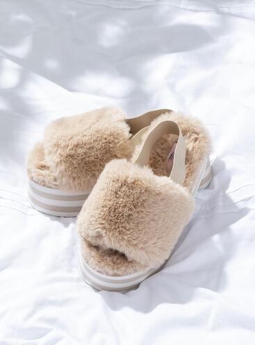 Platform slider slippers