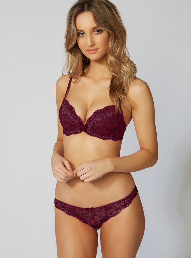 Chloe lace plunge bra