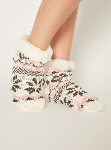 Fairisle chunky ankle socks