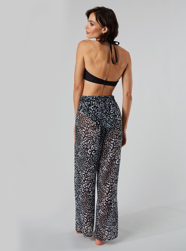 Mono leopard beach trousers