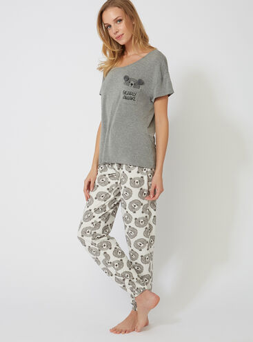 Peekaboo bear tee and joggers set